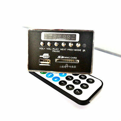 Bluetooth Module WAV+WMA+MP3 decode board 12v Digital LED player FM Radio car B-