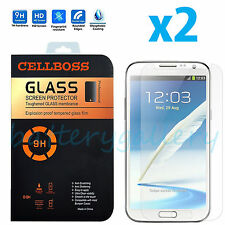 2x Premium Real Tempered Glass Screen Protector for Samsung Galaxy Note 2