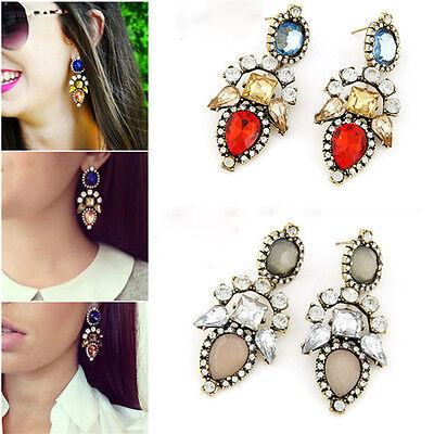 Women Classical Hot Fashion Crystal Rhinestone Stud Dangle Earrings Jewelry Free