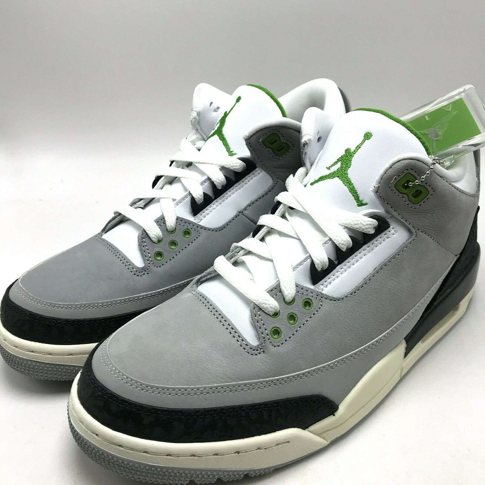 dc0e5bb7 Air Jordan 3 Retro Chlorophyll Mens 136064-006 Smoke Grey Black ...