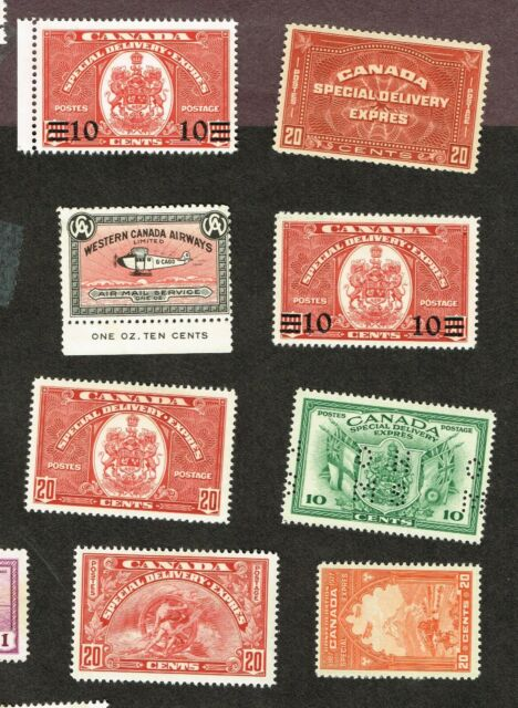 CANADA  SPECIAL DELIVERY ETC  VF MLH     (YLUJ13,7