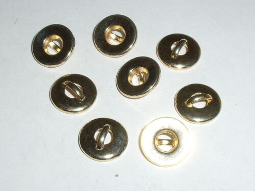 10 pièce de métal Boutons bouton boutons 11 mm or article neuf inoxydable 0023.1
