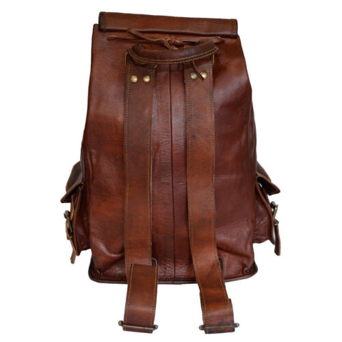 New S TO L Genuine Leather Back Pack Rucksack Travel Bag For Men/'s and Women/'s.