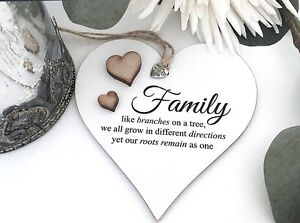 Strange Details About Family Tree Shabby Chic Heart Plaque Friendship Christmas Love S32 Home Interior And Landscaping Ponolsignezvosmurscom