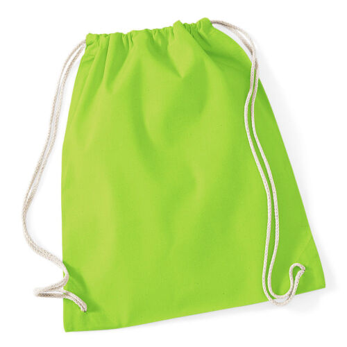 Westford Mill School Bag Storage Holdall Backpack Cotton Drawstring Gymsac