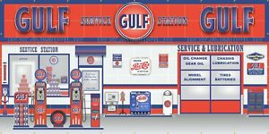 PHILLIPS 66 GAS STATION SCENE WHOLE WALL MURAL SIGN BANNER GARAGE ART 8/' X 16/'