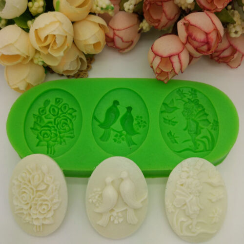 1 Oval 11*4.7*1.1cm girl and butterfly bird Resin Mold Silicone mould 10137950