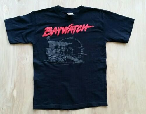Vtg 90s Baywatch T Shirt Medium Life Guard David H