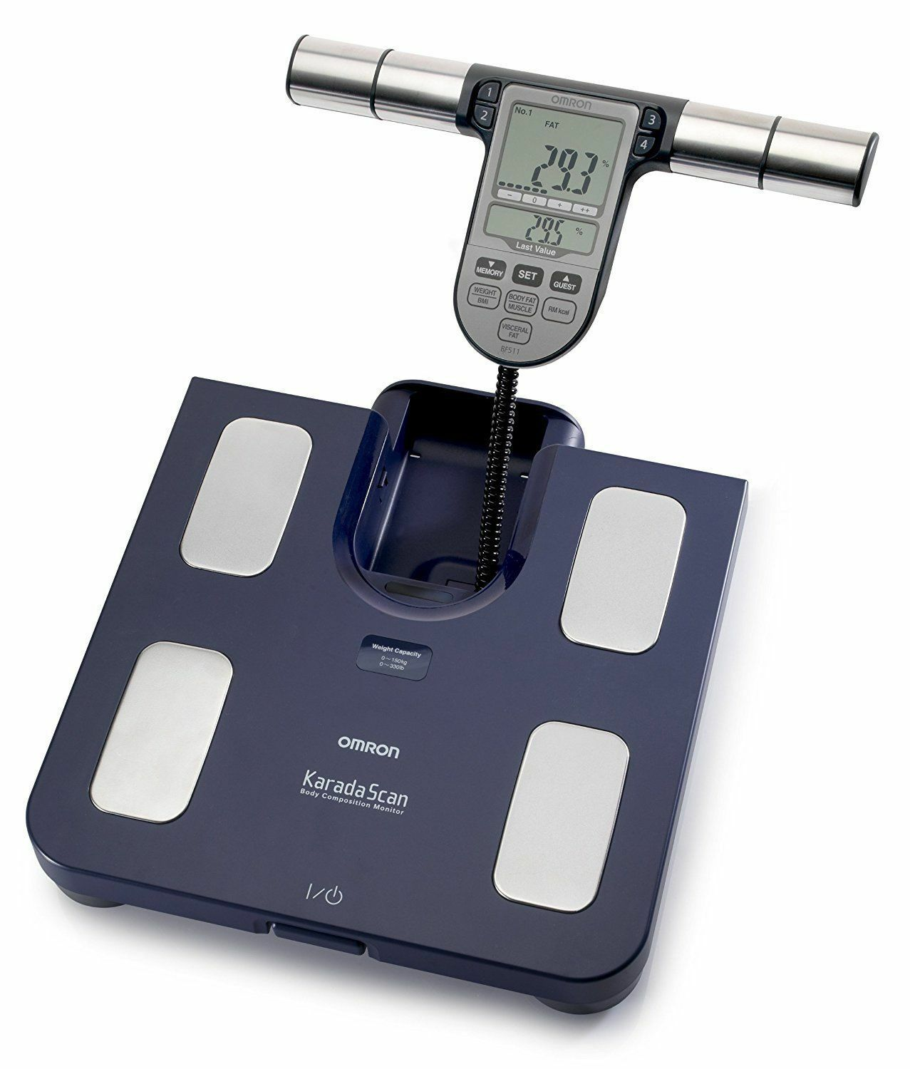 OMRON BF 511 Body composition scale Fat Meter Memory Family Blau New Original
