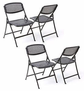 Mity Lite Flex One Folding Chair Black Office Dining