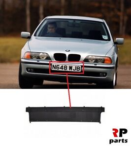 FOR-BMW-5-E39-96-00-NEW-FRONT-BUMPER-NUMBER-PLATE-HOLDER-WITH-PLACE-FOR-CHROME