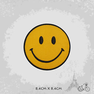Smile Emoji Logo Iron On Patch Sew On Embroidered Patch Badge