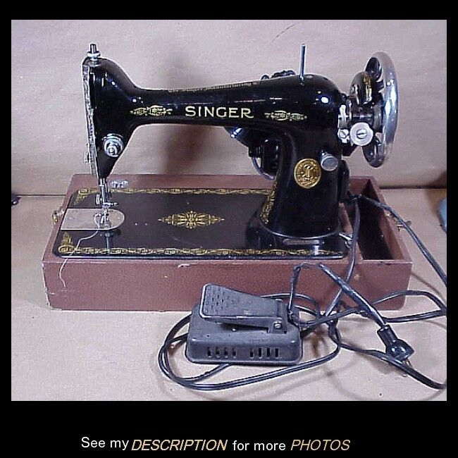 Antique 1927 Singer Portable Sewing Machine Serial Number Ab751670