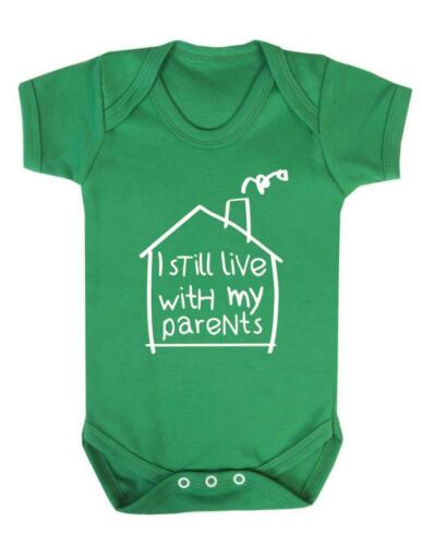 Sigo vivo con mis padres Bebé Chaleco//Playsuit-Gracioso aún viven con padres