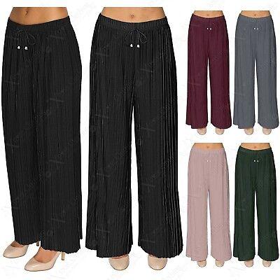 Sommer Damen Freizeit Locker Weites Bein Hose Yoga Hose lang Schlitz 4 Farben