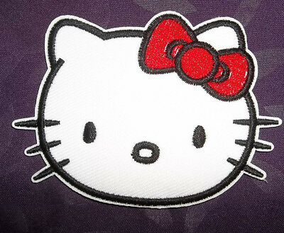 HELLO KITTY PATCH EMBROIDRED SEW//IRON ON DIY