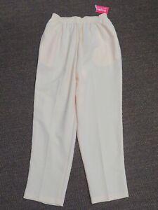 New Women's BonWorth Stretch Tapered Yellow Dress Pants Slacks PM Petite Medium