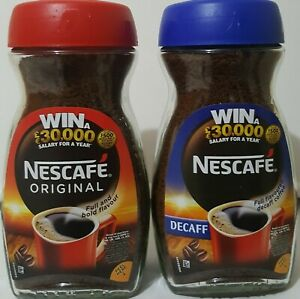 2X 200g Nescafe Original & Decaff Instant Coffee - Full Coffee Flavour - 01/23