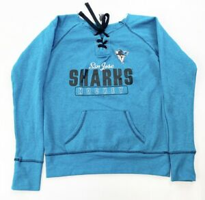 San Jose Sharks Jersey Lace-Up Pullover Hoodie