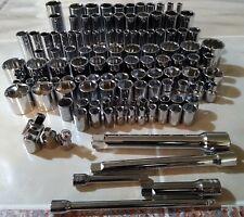 Craftsman Socket Set 121pc 14 38 12 Dr Saeamp Mm 6pt 12pt Ratchet Wrench Tools