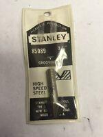 Stanley Router Bit 85089 'v' Grooving Bit 3/8 Usa Steel