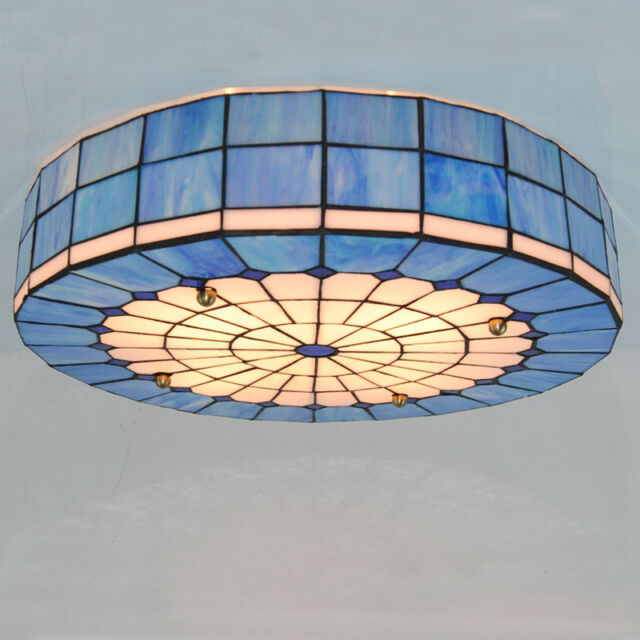 Tiffany style drum ceiling light stained glass flush mount lamps 20 tiffany style stained glass ceiling light fixture hanging lamp lighting c234 aloadofball Choice Image