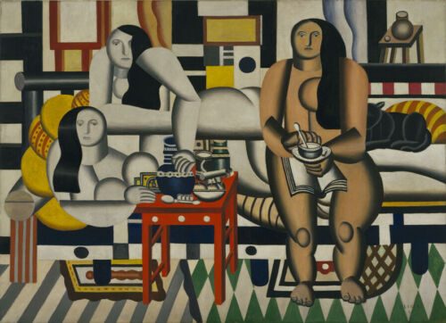 Art Fabric HD Printed Oil Painting Fernand Léger Three Women Wall Home Decor