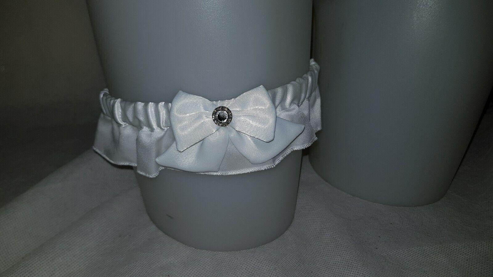 Ladies White Garter Wedding Day Hen Night Accessory Bridal Wear