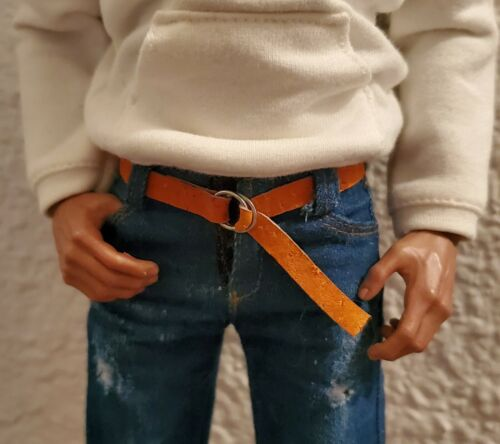 "1//6 Scale Leather Belt for Barbie Ken BJD Blythe Phicen Poppy Parker 12/"" Doll"