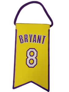 Details about ???????? Kobe Bryant Los Angeles Lakers Jersey Retirement Mini Banner Flag #8 ????