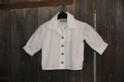 KIDSTRACHT Turi Baby Trachtenhemd Hemd  weiß Gr 62-74 z Taufe Anzug Lederhose