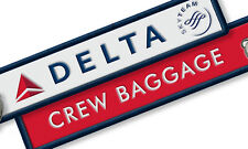 DELTA AIRLINES CREW EMBROIDERED LUGGAGE TAGS X2