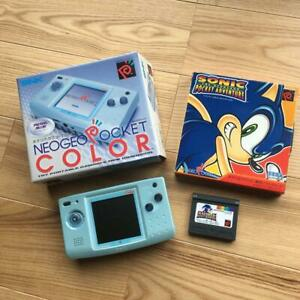 SNK-Neo-Geo-Pocket-Color-Blue-Soft-Set-from-jAPAN