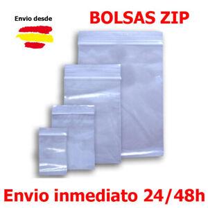 Bolsas Hermeticas Plastico Con Grip Cierre Zip Transparentes Diferentes Medidas Ebay