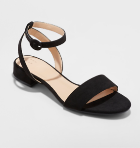 A-New-Day-Women-039-s-Winona-Open-Toe-Ankle-Strap-Dress-Sandal-with-Heel-Black