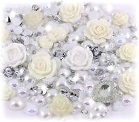 'Wedding Day' 20g White & Ivory Pearl & Gems Set Decoden Kit Kawaii Craft