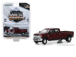 GREENLIGHT-Dually-Drivers-2019-Ford-F-350-Lariat-1-64-Red