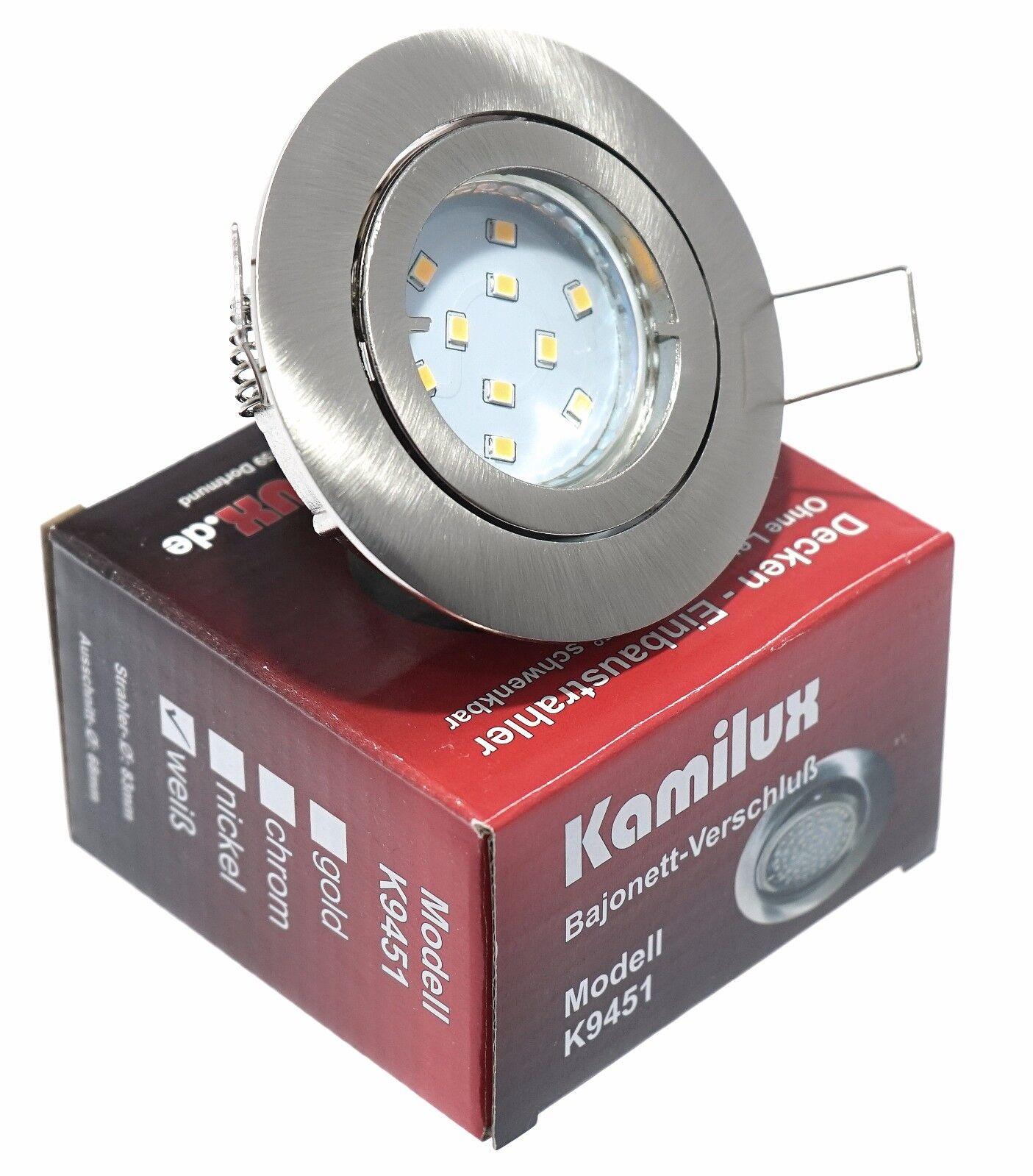 5W 400Lm 230V LED Einbaustrahler Bajo K9451 Schwenkbar Einbauleuchte Einbauspots