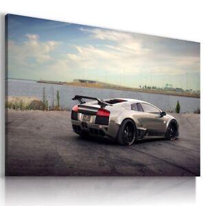 LAMBORGHINI AVENTADOR METALLIC Sports Cars Wall Art Canvas Picture AU795 MATAGA