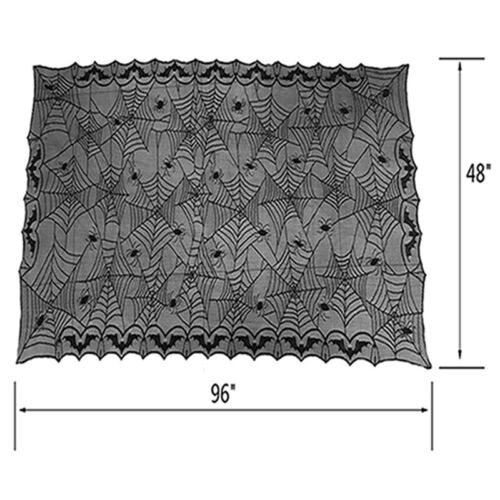 Spiderweb Halloween Table Runner Lace Tablecloth Home Dinner Decor 245*122 cm S