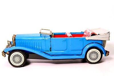 """Blechspielzeug Vintage Sss """" Alte Timer """" Blech Reibung N-1929 Blau Limousine Spielzeug"""