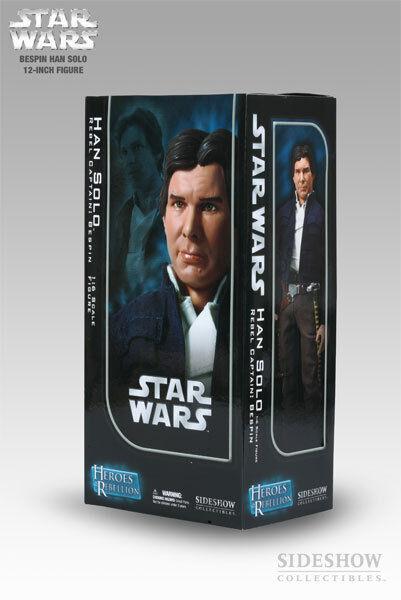 Han Solo Star Wars SIDESHOW 12 figura: Bespin capitán Indiana Jones Imperio Jedi