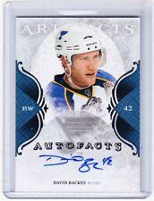 11-12 2011-12  ARTIFACTS DAVID BACKES AUTOFACTS AUTOGRAPH AUTO DA BLUES