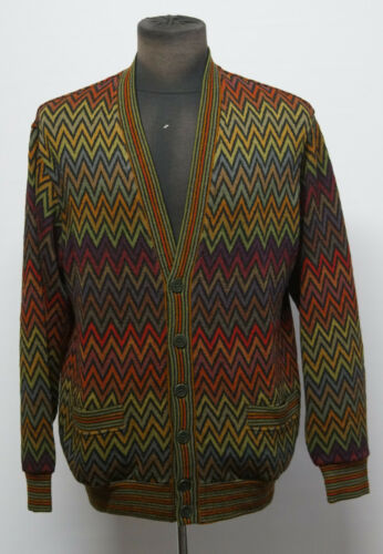 Missoni Sport chevron cardigan sweater size S