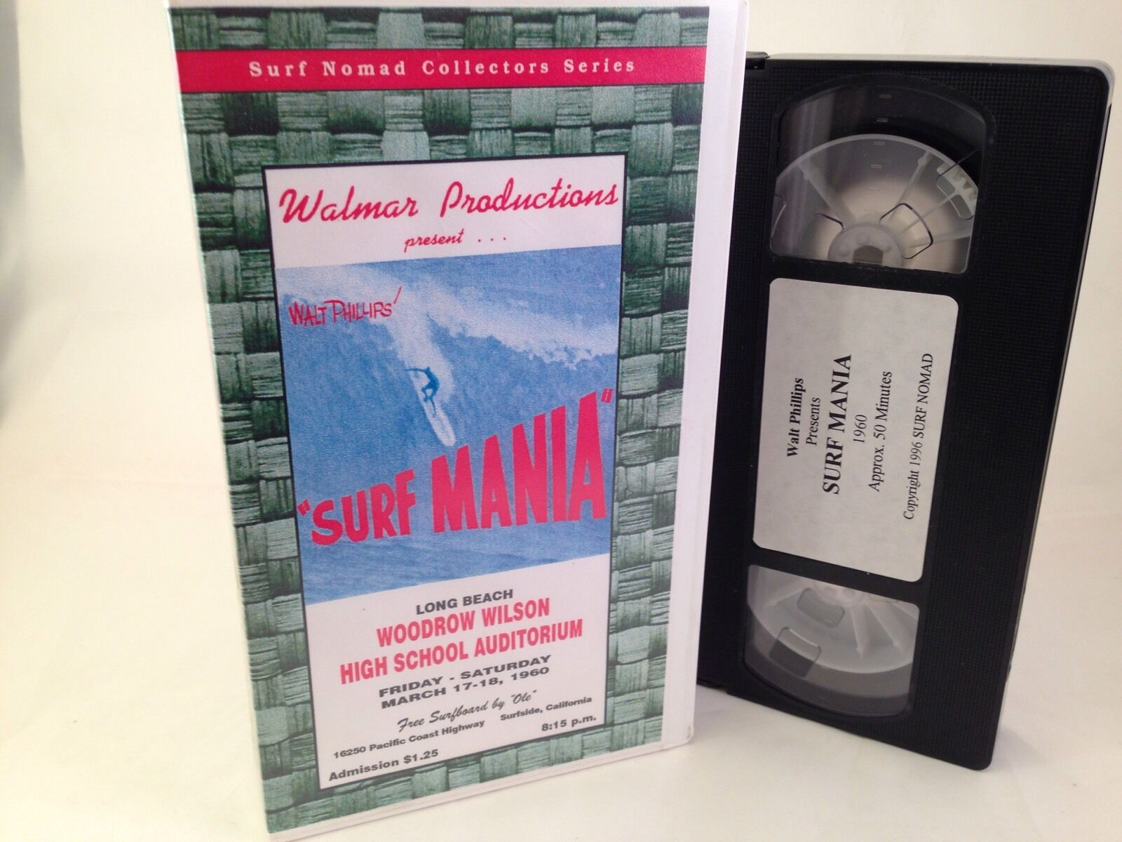 Vtg Surfing 'Surf Mania' 1960 Walt Phillips Video VHS Movie - Super RARE  WALMAR