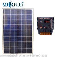 Solar Panel Kit 12 Volt 100 Watt Solar Panel, 20 Amp Charge Controller Pv
