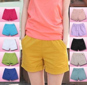 Women-Summer-Casual-Beach-Shorts-Plus-Size-Ladies-Sports-Shorts-Cotton-Hot-Pants