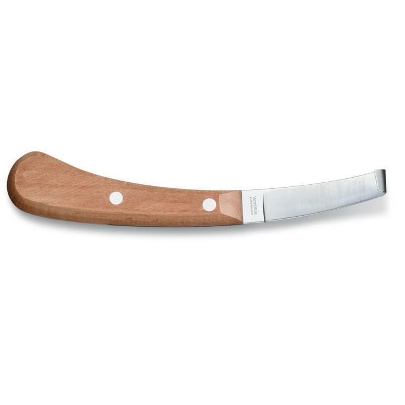 Victorinox Hufmesser Klauenmesser einschneidig Buchenholzgriff für Linkshänder