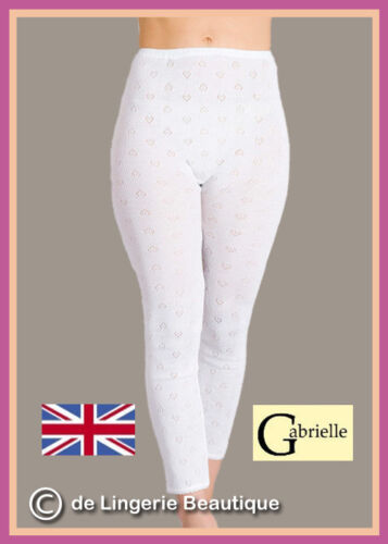 Leggings made by Gabrielle Size 10-20 Ladies Black /& White Thermal Long Johns