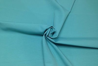 """BRYANT SOLID CANVAS LAGOON BLUE TURQUOISE INDOOR OUTDOOR FABRIC BY THE YARD 55/""""W"""